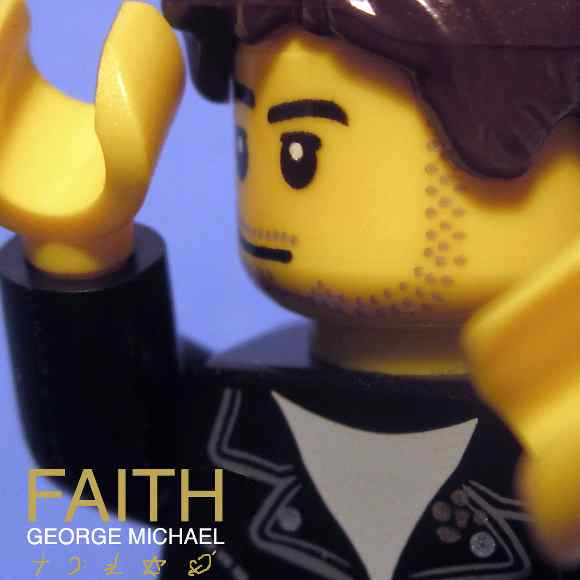 Lego-Version des Albumcovers von George Michael - Faith
