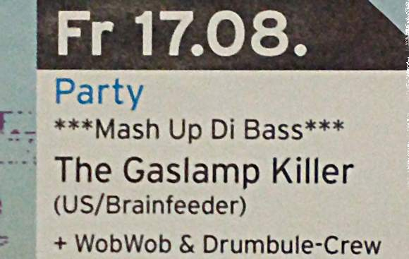 Party-Flyer: The Gaslamp Killer