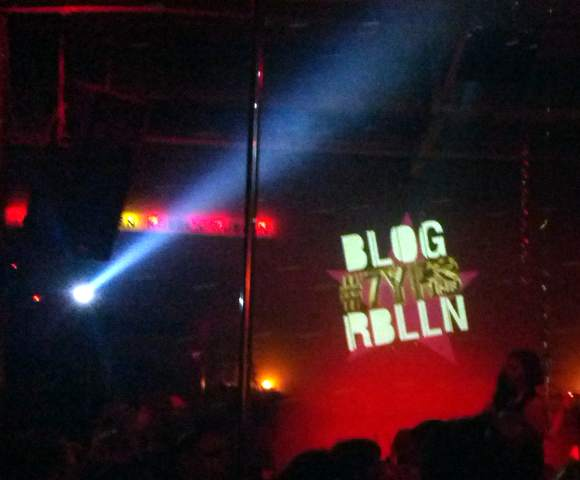 Live auf der Blogrebellen-Party
